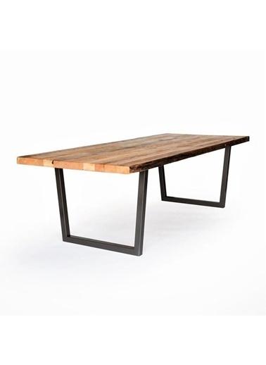 222 Concept Masif Ağaç Meşe Renk 200x60x4 cm Yemek Masası Renkli